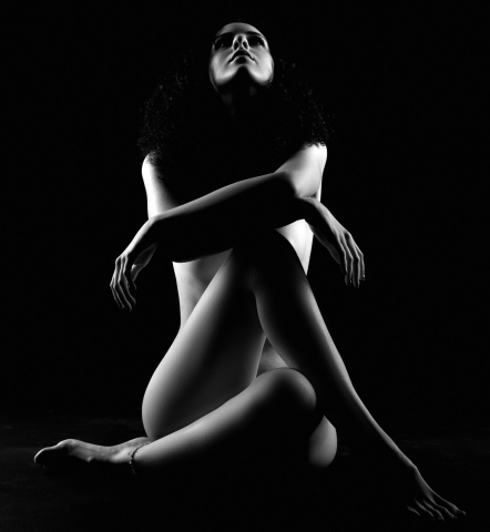 nudo artistico fotografia bianco e nero Sala pose
